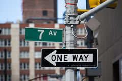 Classic Street Signs in New York City Royalty Free Stock Photos