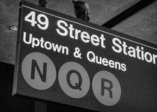 Classic Street Signs in New York City Royalty Free Stock Photo