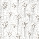 Different size roses and contours of abstract flowers and leaves. vector illustration