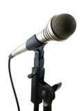 Classic Studio Mic. Rophone with stand and cord Stock Image