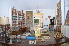 A Classic Study Room in Hemingways Cuban Home Royalty Free Stock Images