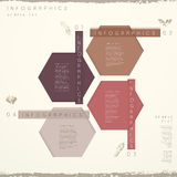 Classic style abstract hexagon tag infographics Royalty Free Stock Photo