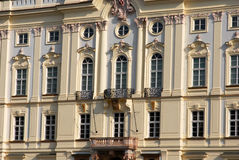 Classic style: Architectonical detail. Architectural detail of balconies in a Prague building Royalty Free Stock Images