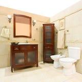 Classic style bathroom Royalty Free Stock Photos