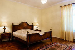 Classic style bedroom in luxury hotel Royalty Free Stock Images