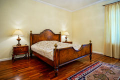Classic style bedroom in luxury hotel Royalty Free Stock Photos