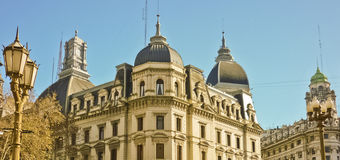 Classic Style Buildings of Buenos Aires Stock Images
