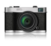 Classic Style Camera on white Stock Photos