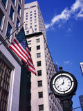 Classic style clock on Fifth Ave. in Manhattan. Royalty Free Stock Image
