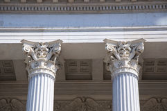 Classic style columns in Vienna Royalty Free Stock Photography