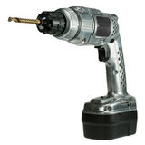 Classic style cordless drill Royalty Free Stock Photos