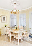 Classic style dining room interior Stock Image