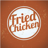 Classic Style Fried Chicken Stamps Royalty Free Stock Images