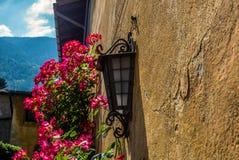 A classic style Italian garden in Tirano in Italian Valtellina Stock Photo