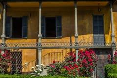 A classic style Italian garden in Tirano in Italian Valtellina Royalty Free Stock Photography