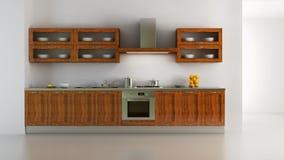 Classic style kitchen interior Stock Photos