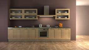Classic style kitchen interior stock illustration
