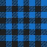 Light Blue and Black Buffalo Check Plaid Seamless Pattern. Classic style light blue and black buffalo check flannel plaid seamless pattern vector illustration