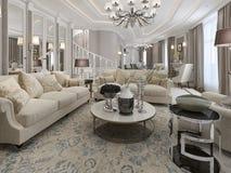 Classic style living room design Stock Photo