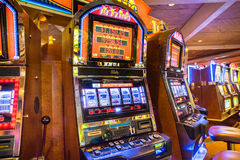 Classic style mechanical slot machines Las Vegas Nevada. Mechanical slot machines in Las Vegas Nevada royalty free stock photos