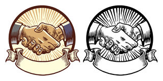 Classic style shake hand design Royalty Free Stock Photos