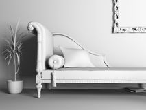 Classic style sofa Royalty Free Stock Images