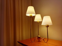 Classic style table lamp decorating a room Stock Photo