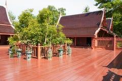 Classic style Thai wooden house. Stock Photos