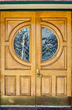 Classic style wooden door royalty free stock images
