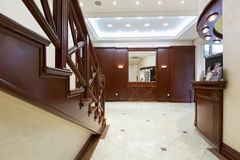 Classic styled hotel interior - reception area Royalty Free Stock Images