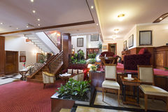 Classic styled hotel lobby interior Stock Images