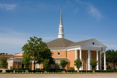 Classic Suburban Church Royalty Free Stock Photography