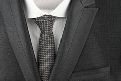 Classic suit, shirt and tie, close-up Royalty Free Stock Image