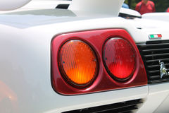 Classic supercar rear detail Royalty Free Stock Image