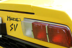 Classic supercar rear detail Stock Photos