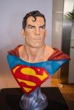 Classic Superman head chest model on display Stock Photos