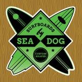 Classic Surf Logo Design Stock Photos