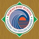 Classic Surf Logo Design Royalty Free Stock Photos