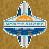 Classic Surf Logo Design Royalty Free Stock Photo