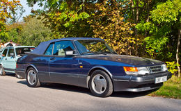 Classic Swedish car Saab 900 cabrio Stock Photography