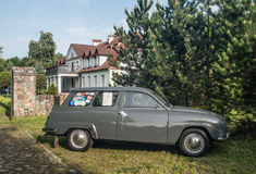 Classic Swedish car Saab 95 2AT parked Stock Images
