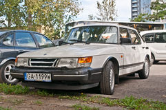 Classic Swedish car Saab 900 parked Royalty Free Stock Image