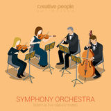 Classic symphony orchestra string quartet Royalty Free Stock Image