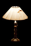 Classic table lamp with lights on Stock Images