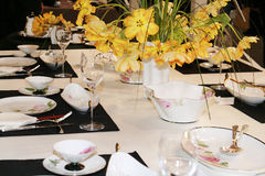 Classic table setting. Classic and luxury table setting Royalty Free Stock Image