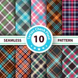 Classic tartan, Merry Christmas check plaid seamless patterns. royalty free illustration