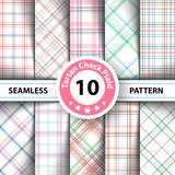 Classic tartan, Merry Christmas seamless patterns. vector illustration