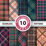 Classic tartan, Merry Christmas seamless patterns stock illustration