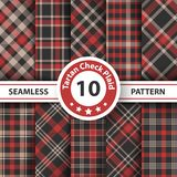 Classic tartan, Picnic tablecloth, Gingham, Buffalo, Lamberjack, Merry Christmas check plaid seamless patterns. Vector eps 10 royalty free illustration