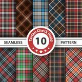 Classic tartan, Picnic tablecloth, Gingham, Buffalo, Lamberjack, Merry Christmas check plaid seamless patterns. V vector illustration